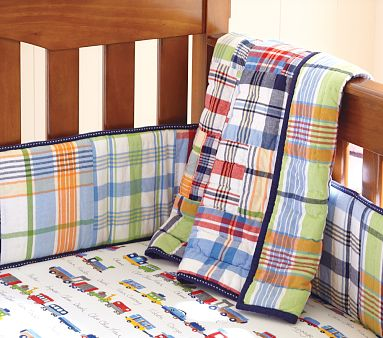 Madras Crib Bedding From Pottery Barn