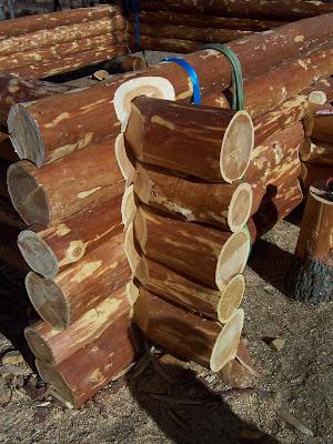 Fuste : assemblage d'angle des troncs.