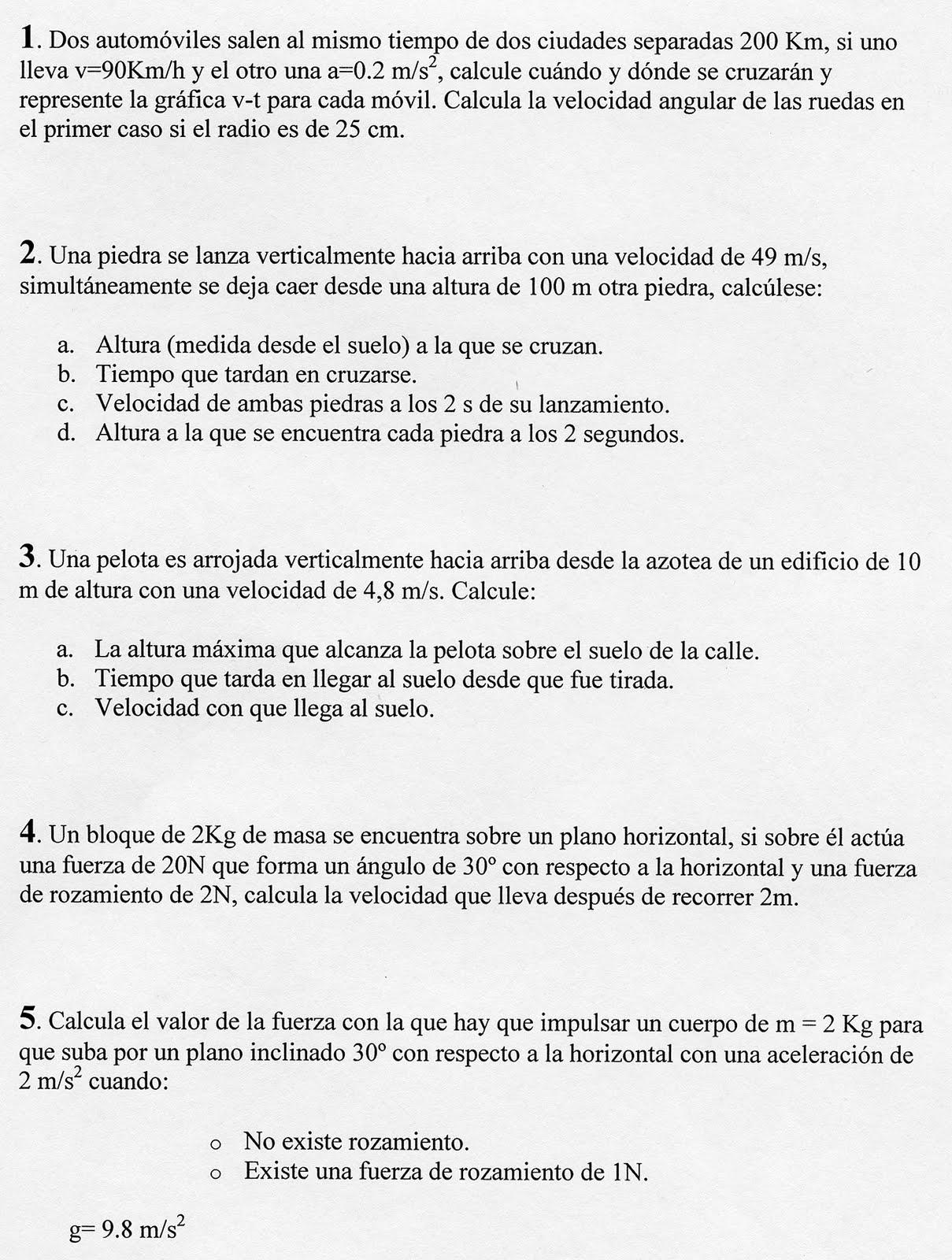 FISICA Y QUIMICA PARA ESTUDIANTES: 4º ESO Examen