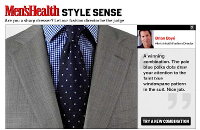 men's health test shirt tie combination