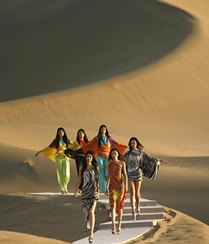 Pierre Cardin Silk Road Dunhuang China fashion show