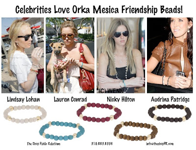 lindsay lohan nicky hilton lauren conrad audrina patridge orka mesica friendship bracelet