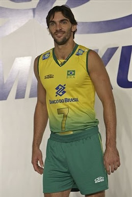 beijing china olympics uniform 2008 brazil volleyball