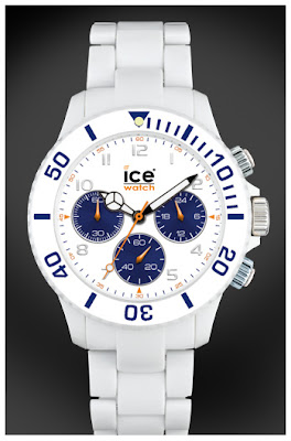ice watch plactic chrono white blue