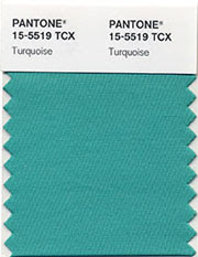 Turquoise color of the year 2010