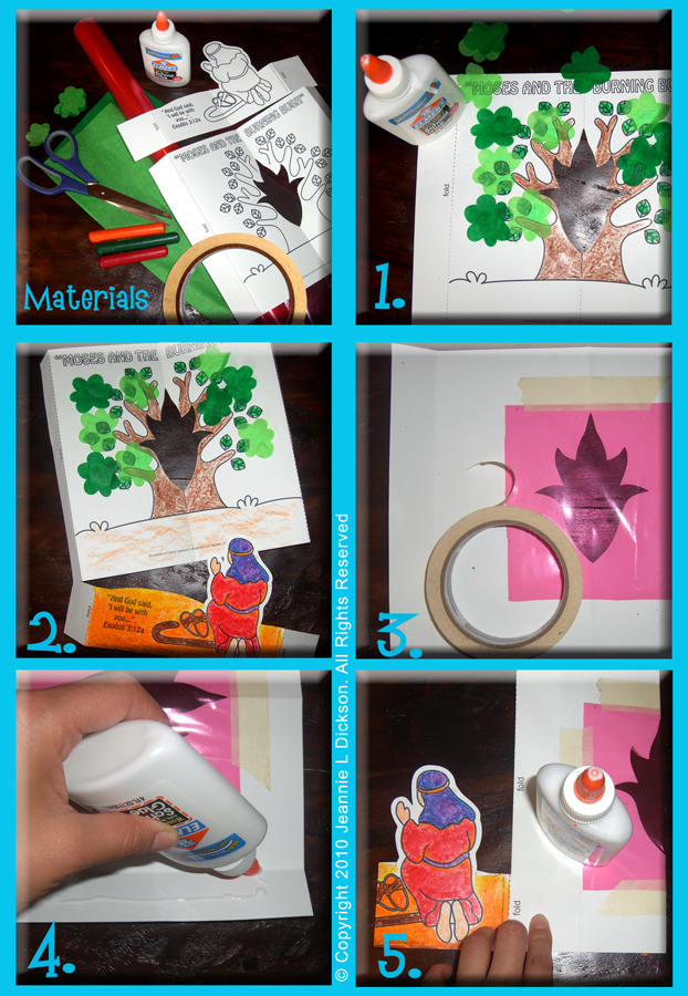 This craft is great for kids any age Moses Burning Bush Craft