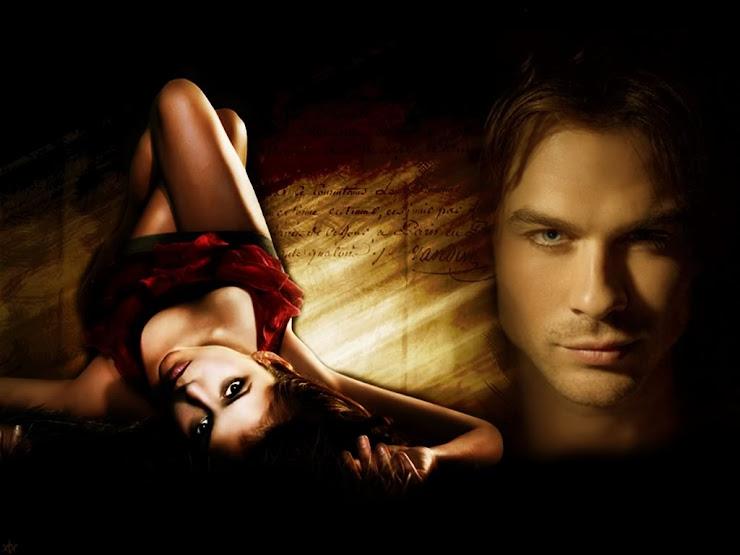 vampire diaries damon and elena kissing. vampire diaries damon and