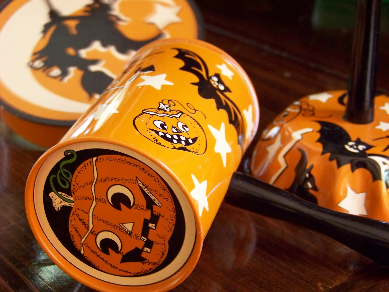 so instead we have quite a few things that only look old but still give that old fashioned feel these are halloween noisemakers