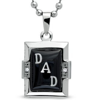Rectangle Onyx and Mother-of-Pearl DAD Pendant