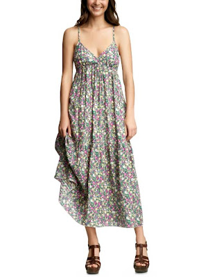 Floral empire maxi dress