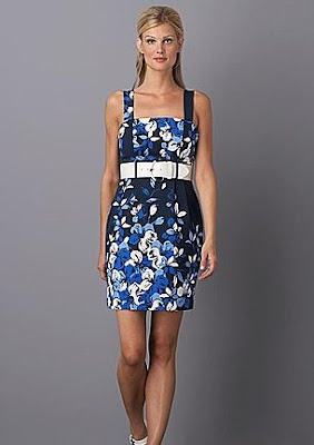 RAFAELLA Belted Floral-Print Sheath Dress