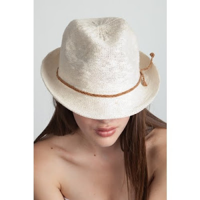 Knit Fedora With Braided Band
