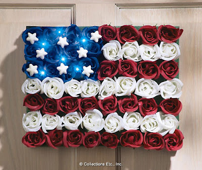 Patriotic Light Floral American Flag Home Decor