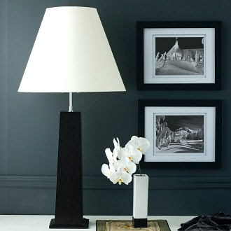 Nelson Table Lamp in Chocolate with Natural Paper Shade