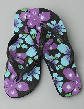 Tropical Flower Flip Flops