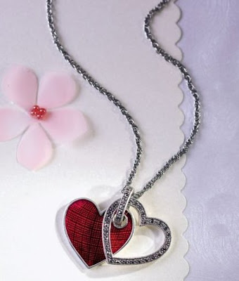 Double Heart Pendant with Chain