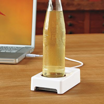 USB beverage chiller warmer