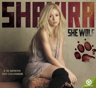 Shakira 2011 Wall Calendar