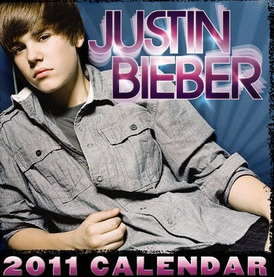 justin bieber 2011 calendar march. Justin Bieber 2011 Mini Wall