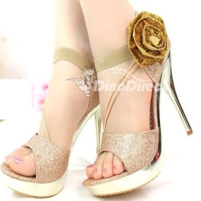 Women Flowers Ankle Peep Toe High Heel Sandals