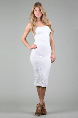 Tube Dress in White