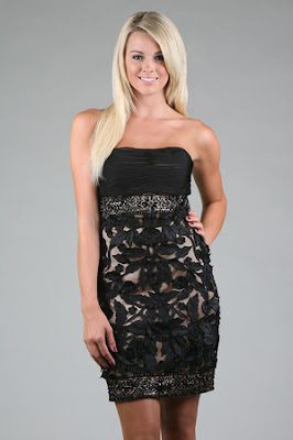 Beaded Black Cocktail Dress