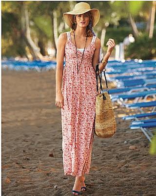 Flora Bella Striped Beach Bag