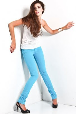 Women's Skinny Denim - Cyan
