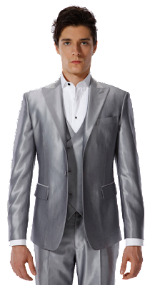 Metallic Three-Piece Tuxedo