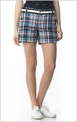 Cuffed Madras Plaid Short
