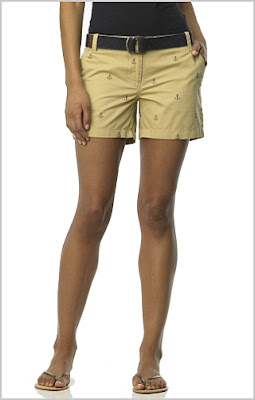 Anchor Embroidered Short