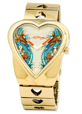Crush Ed Hardy Love Kills Women's Gold Tone Watch