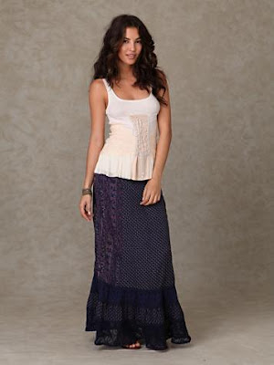 Convertible Floral Lace Maxi Skirt