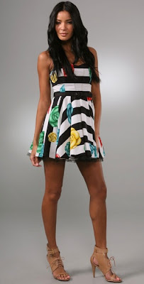Floral Stripe Halter Dress with Belt