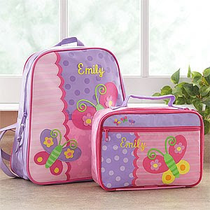 Personalized Butterfly Backpack and Lunch Bag