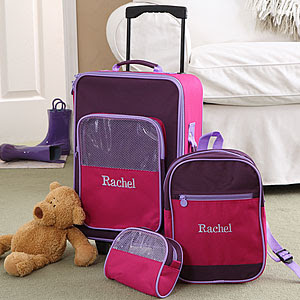Personalized 3-pc Pastel Luggage Set