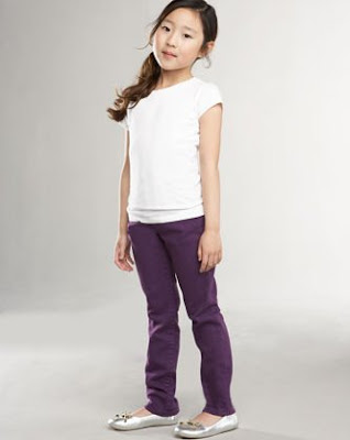 Julie Straight-Leg Jeans, Purple