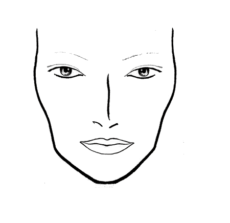 Versatile image within makeup face template printable