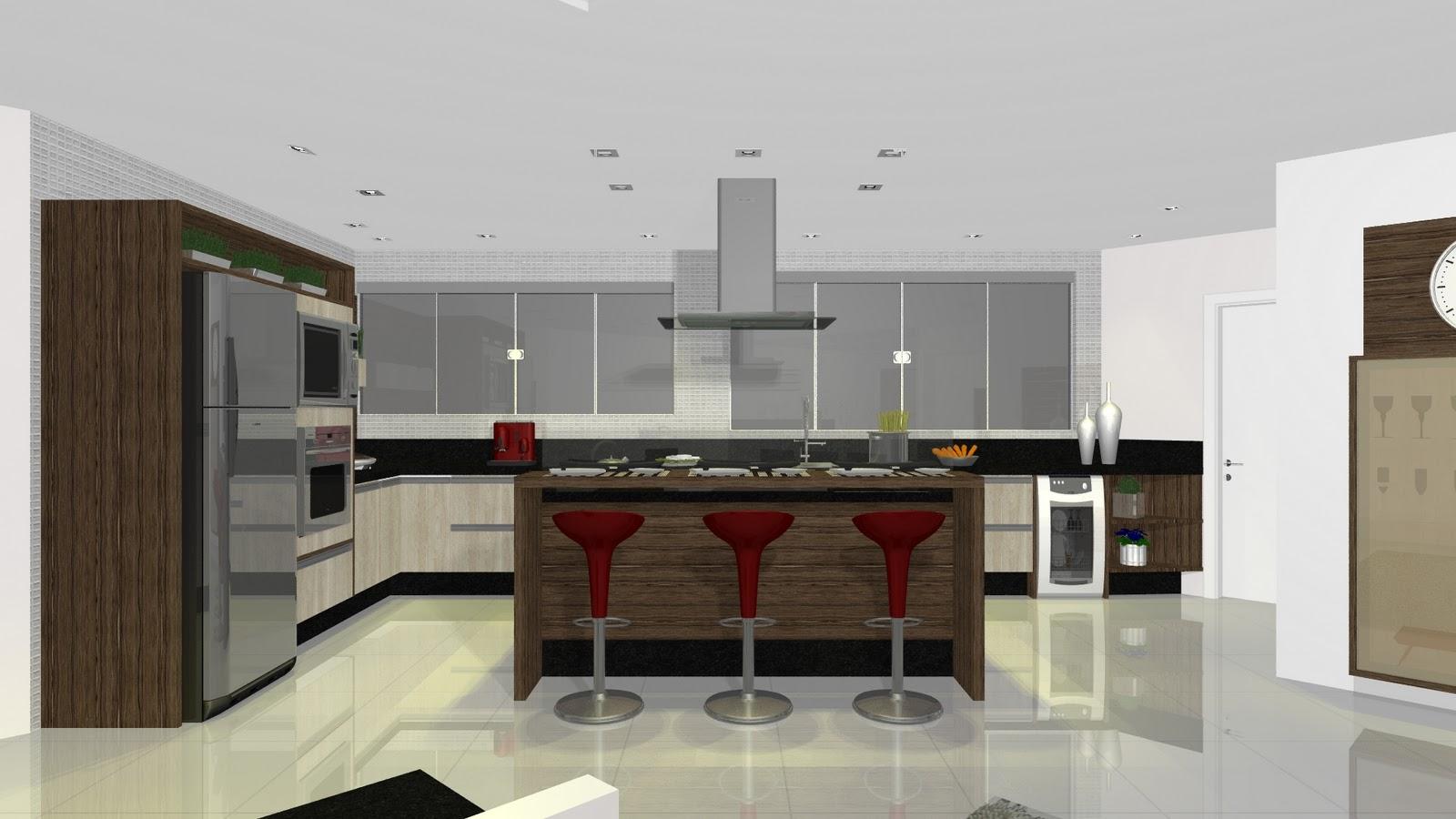 ensaios!!! Charles Chaplin: Projeto BENTEC Cozinha x Sala de Jantar #382C21 1600 900