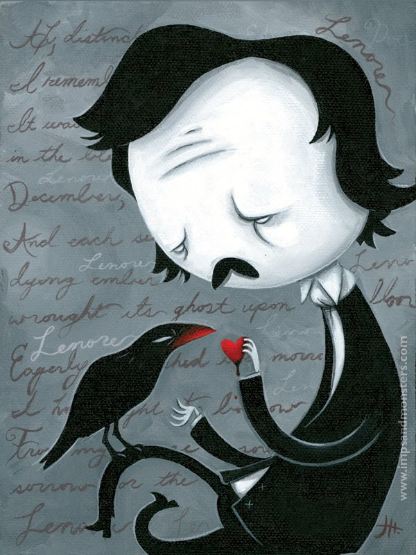 lost love in the raven by edgar In edgar allen poe's ''the raven'', the narrator is feeling down because of his lost love, lenore in a one-page essay, explore the symbolism in the poem as it relates to the mood and tone.