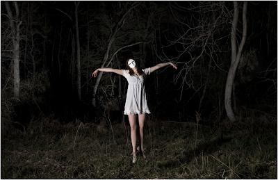 Super punch creepy woman creepy woods