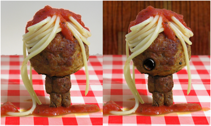 Plush meatball and spaghetti toy by mamamayberrys on Etsy