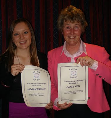 Honorary Members Megan and Carol --- Click to enlarge