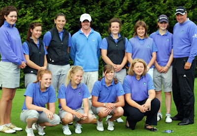 The Scottish Girls Team with Rory McIlroy --- Click to enlarge