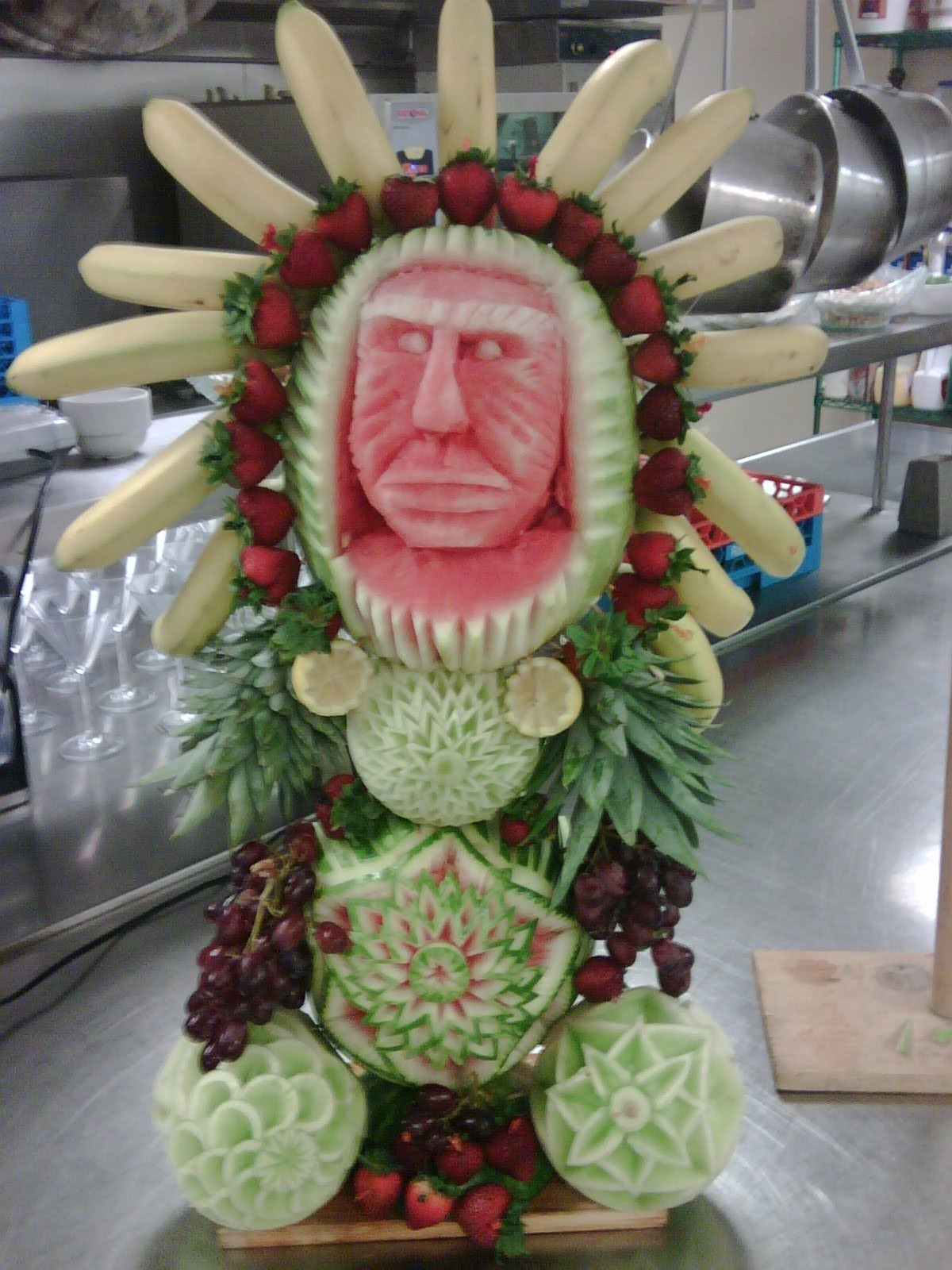 Chef perry kenney fruit carving