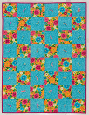 Free Quarry Stone Quilt Chart - Make this quilt in one of 26 sizes!