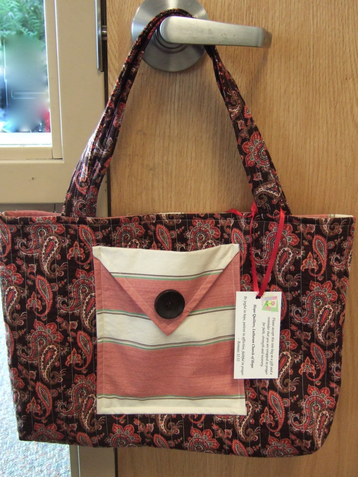 Hope Quilters Bags For Breast Cancer Patients
