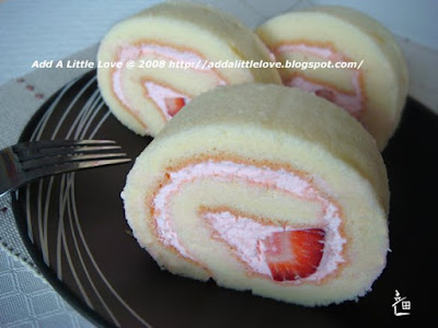 Lovely Strawberry Swiss Roll
