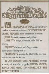India's original Constitution