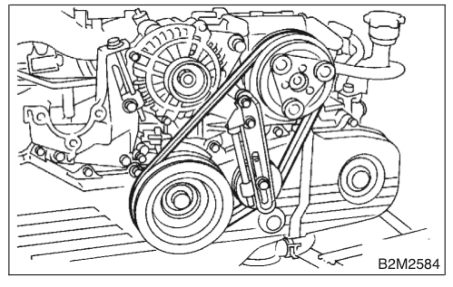 scooby drew subaru  engine belts